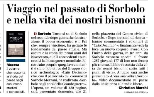 Sorbolo Presentazione Libro Sorbolo e la Grande Guerra - Gazzetta di Parma